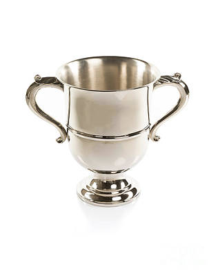 Gilt Cup Photograph - Silver Cup Isolated by Nikita Buida