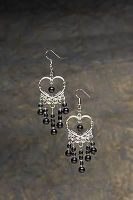 Earrings Jewelry - Silver Heart And Pearl Earrings by Kimberly Johnson