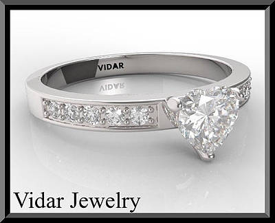 Vidar Jewelry Jewelry - Silver Heart Engagement Ring by Roi Avidar