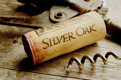 Silver Oak Cork Painting Print by Jon Neidert