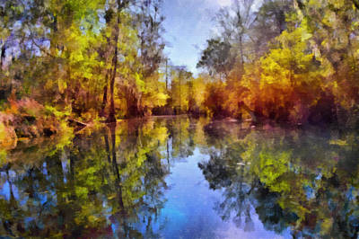 Silver River Colors Print by Christine Till