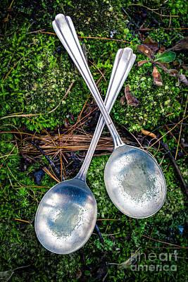 Silver Spoons  Print by Edward Fielding