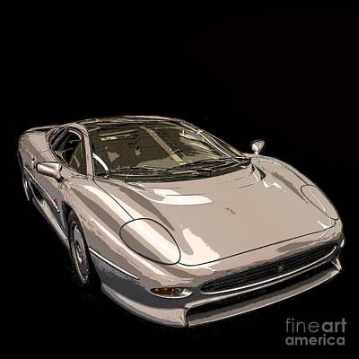 Indy Car Photograph - Silver Sports Car by Edward Fielding