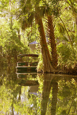 Silver Springs Glass Bottom Boats Print by Christine Till