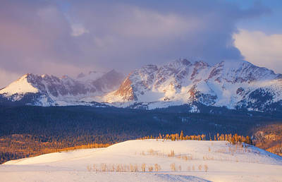 Winter Scenes Photograph - Silverthorne Sunrise by Darren  White