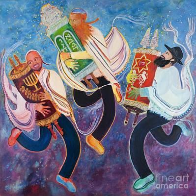 Painting - Simchat Torah by Chana Helen Rosenberg