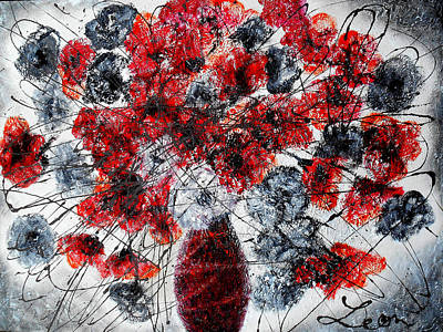 Carnation Painting - Simfoni Of Love by Leon Zernitsky