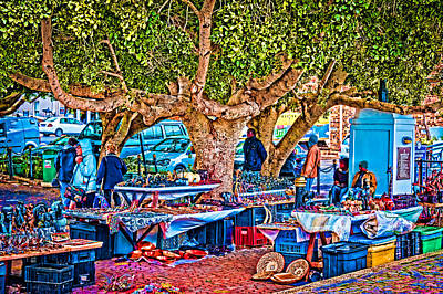 Simon's Town Market Print by Cliff C Morris Jr
