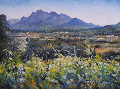 Painting - Simonsberg Cape Town South Africa by Enver Larney