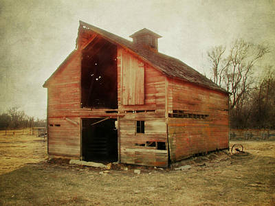 Lightning D Photograph - Simple Barn Ll by Julie Hamilton