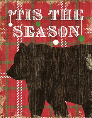 Animal Christmas Painting - Simple Living Holiday Bear by Michael Mullan