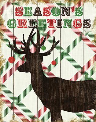 Animal Christmas Painting - Simple Living Holiday Deer by Michael Mullan
