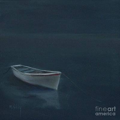 Simple Serenity - Lone Boat Original by Mary Hubley