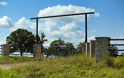 Simple Texas Ranch Gate Original by Linda Phelps