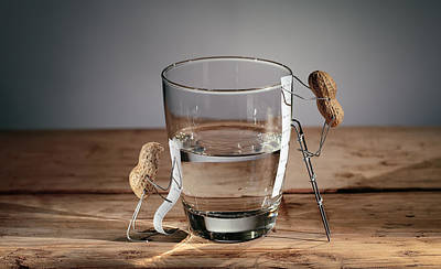 Optimistic Photograph - Simple Things - Half Empty Or Half Full by Nailia Schwarz
