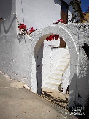 Simple White Archway Print by Lainie Wrightson