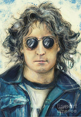Apple Records Digital Art - Simply John Lennon by Mark Tonelli