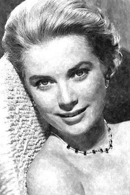 Kelly Painting - Simply Stunning Grace Kelly by Florian Rodarte
