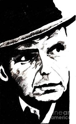 Frank Sinatra Drawing - Sinatra by Corina Hogan
