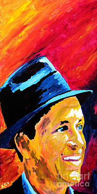 Ratpack Painting - Sinatra My Way by Kevin Rogerson