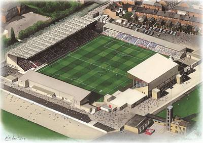 Sincil Bank - Lincoln City Print by Kevin Fletcher