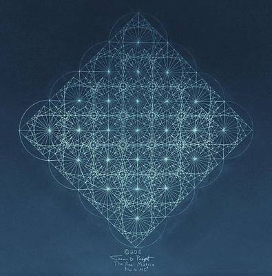 Fractal Drawing - Sine Cosine And Tangent Waves by Jason Padgett