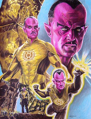 Dc Comics Drawing - Sinestro by Joseph Christensen