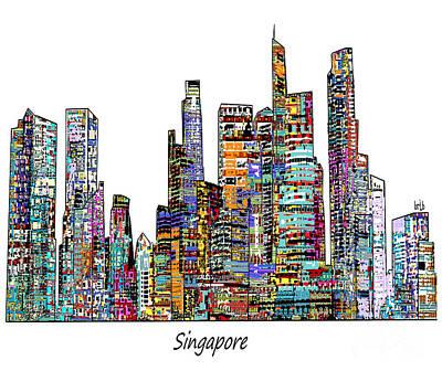 Singapore  Print by Bri B