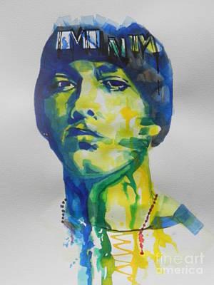 Rapper  Eminem Print by Chrisann Ellis