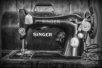 Singer Sewing Machine Retro Print by Paul Ward