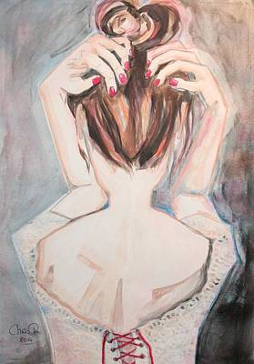 Undressing Mixed Media - Singing... And Undoing... by Christel  Roelandt