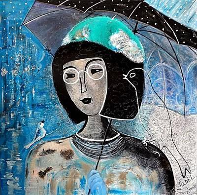 Singing Under The Rain Print by Tatiana Tatti Lobanova