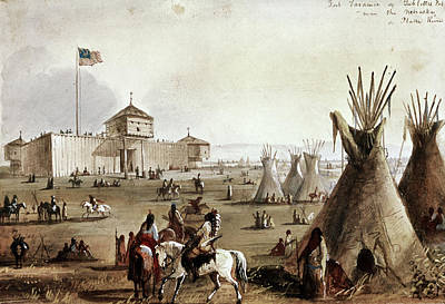 Sioux At Fort Laramie, 1837 Print by Granger