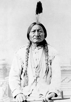 Tribal Photograph - Sioux Chief Sitting Bull by War Is Hell Store