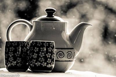 Photograph - Sip Green Tea With Me... by Kornrawiee Miu Miu