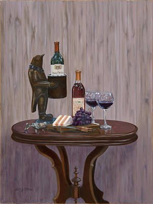 Wine Holder Painting - Sir Alfred Conway Quinn Esq. by Alice Betsy Stone