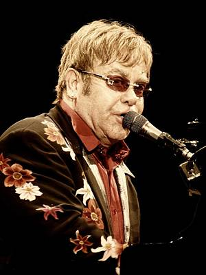 Elton John Photograph - Sir Elton John by Devina Browning