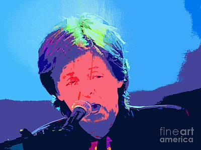 Sir Paul Pop Art Print by Tina M Wenger