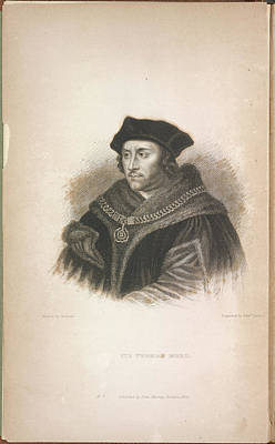 Statesmen Photograph - Sir Thomas More by British Library