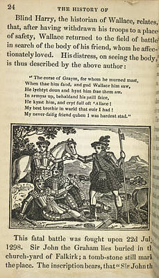 Sir William Wallace Print by British Library
