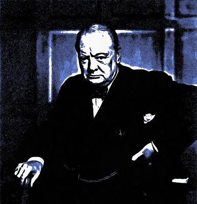 Hyde Park Digital Art - Sir Winston Churchill by Maciej Froncisz