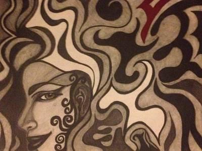 Face Drawing - Siren 2 by Kolene Parliman