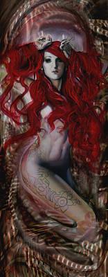 Undersea Painting - Siren by Luis  Navarro