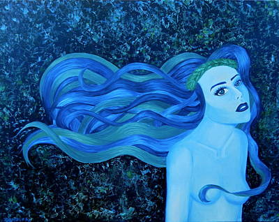 Girl Painting - Siren Song by Ana Zarate-Nunez