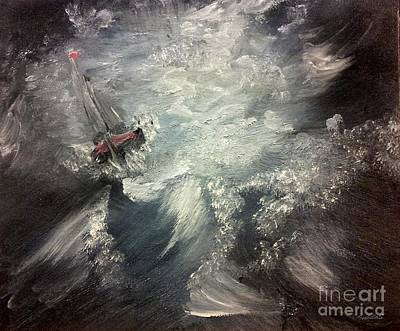 Moody Painting - Sirens Call by Isabella Abbie Shores