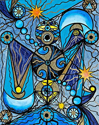 Vibrational Frequency Painting - Sirius by Teal Eye  Print Store