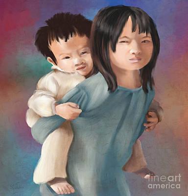Laos Painting - Sister Tnm by Sydne Archambault