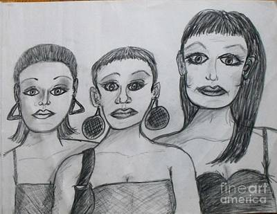Sisters And Brother Print by Catherine Ratliff