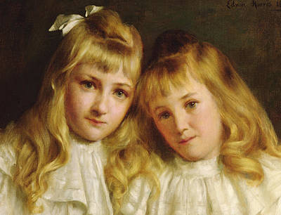 Women Together Painting - Sisters  by Edwin Harris