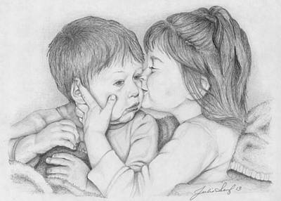 Sisters Love Original by Julie Senf